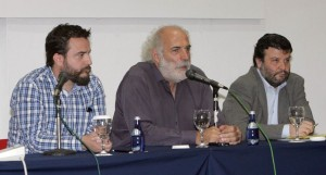 "Head of the ""Greek Breakfast"" program, Yiorgos Pittas (center)."