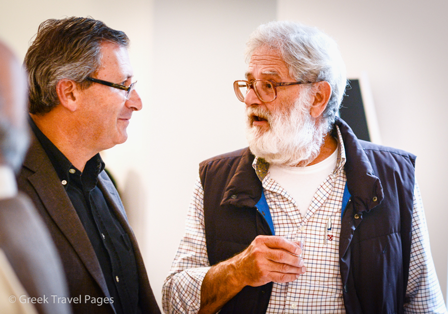 """Statir's owner, Dimitris Portolos (right), soul of the event and """"Protolado"""" concept."""
