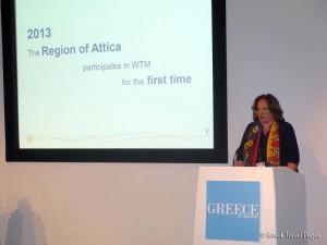 Vice Governor of the Region of Attica, Anna Papadimitriou-Tsatsou