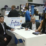 Fantasy Travel - Diamantis Melitas, IT manager; George Gerassimidis, chairman; and Angeliki Gerassimidis, incoming department.