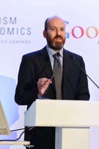Edoardo Colombo, Advisor to Italy's Prime Minister for Digital Agenda. During the presentation, Mr. Colombo referred to a proposal that sees the digital agenda focusing on the tourism sector when Greece and Italy assume the rotating EU Presidency in the first and second half of 2014, respectively.