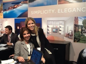 Bessy Kafhitsa from Grace Hotels and Stefania Flenga from Yes! Hotels at the ILTM 2013 in Cannes.