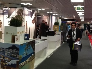 The stand of Athens-based New Hotel, a member of the Yes! Hotels chain, at ILTM 2013.