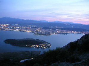 Panoramic view of the city of Ioannina in Epirus.