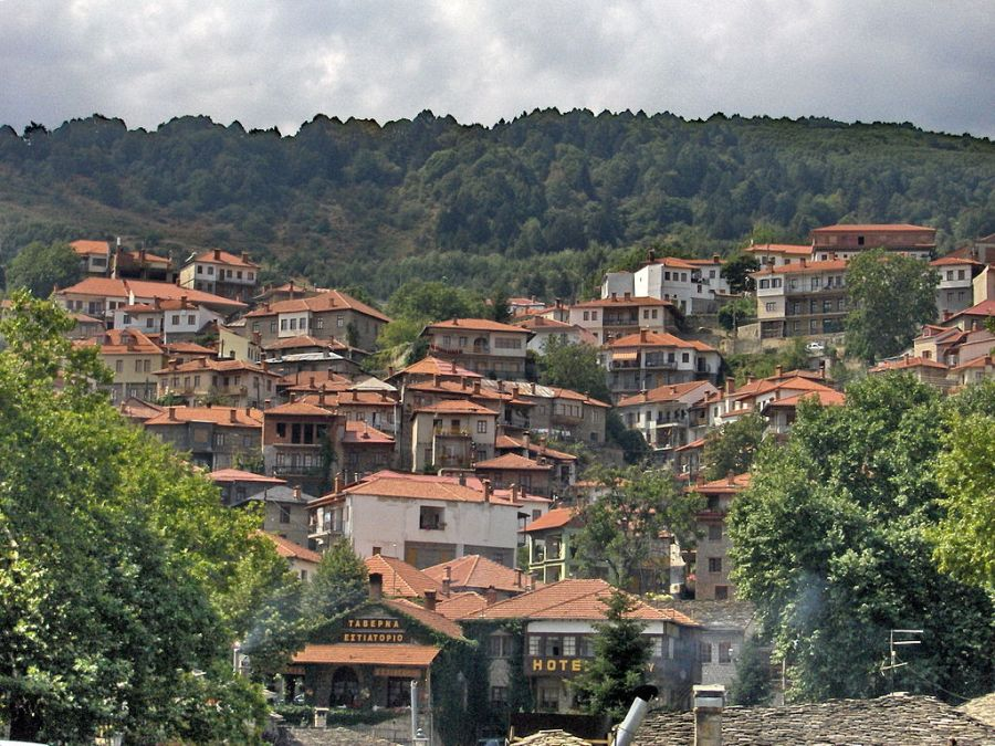 A view of Metsovo, a town in Epirus on the mountains of Pindos.