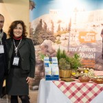 Athens Walking Tours stand - Yiannis Yiannakakis, managing director and Despina Savvidou, licensed guide.