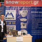Snowreport.gr stand - Snowreport.gr is a leading Greek website for reporting the weather and snow conditions on the greek ski centers to skiers.