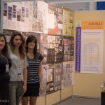The stand of TEI Athens, Department of Interior Architecture, Decorative Arts & Design, presented a student project to redesign Amalia Hotel.
