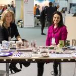 """Idisti, Greece with a twist"" stand - Olga Papadopoulou and Marion Koubouri, co-Founders."