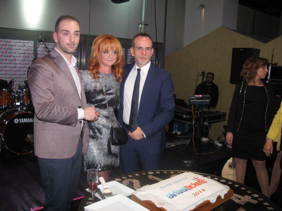 Nikos Koklonis, AirFastTickets president; Eleni Vareli-Mitrousia; AirFastTickets COO; and Ron Yeatman, AirFastTickets vice president Europe.