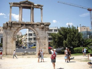 Hadrians Arch in Athens, Greece.