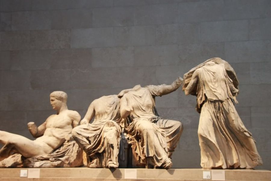 Parthenon Marbles in British Museum.