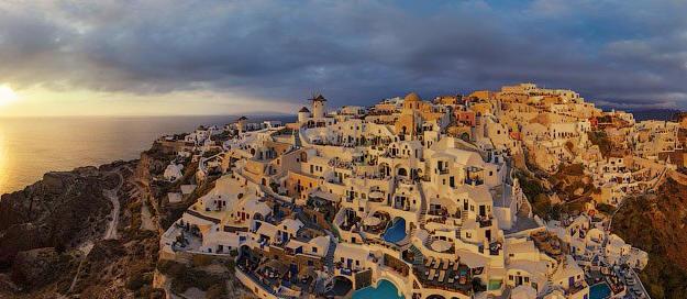 Santorini, Greece. Photo: airpano.com