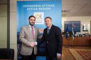 Athens-Attica & Argosaronic Hotel Association President Alexandros Vassilikos and Regional Governor of Attica Yiannis Sgouros.
