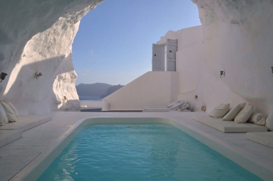 Cave Pool Katikies Hotel Santorini