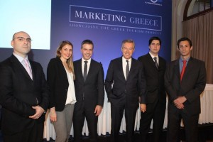 (From left) Vasilis Linakis, co-founder & IT director of Linakis Digital with Marketing Greece's Agapi Smbokou, board member; Iosif Parsalis, general director; Andreas Andreadis, president; Aris Pilitsopoulos, marketing manager; and Thrasy Petropoulos, head of PR & editorial.