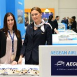 Aegean Airlines - Anna-Maria Lepidis, sales executive Aegean Airlines Frankfurt (left).