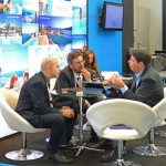 Aqua Vista - George Grafakos and George Tsolakakis of Aqua Vista Hotels with Philippe Kitsopoulos of Danae Travel Bureau.