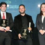 Kevin Kainz, Yiannis Parikos (Water Restaurant - Sani Resort hotel, Halkidiki) with Palestinian Tourism Minister Rula Ma'aya.