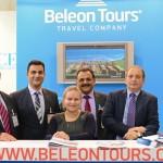 Beleon Tours - N. Christoulakis, A. Saloustros, E. Shishkina, S. Panagiotakis (Cyberlogic) and L. Dimitriadis (President and CEO).