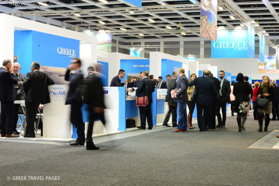 Greek stand at ITB 2014.