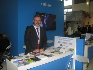 Athens Convention Bureau's George Angelis manned the Greek capital's stand at ITB Berlin 2014.