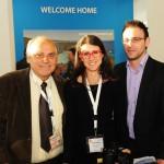 GTP's publisher Maria Theofanopoulou with Stafanos Maimanakos and Nikolas Maimanakos of Villa Karina on Skiathos. Photo credit: Hans G. Ziertmann, Berlin