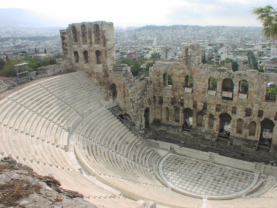 The Odeon of Herodes Atticus in Athens, Greece - today.