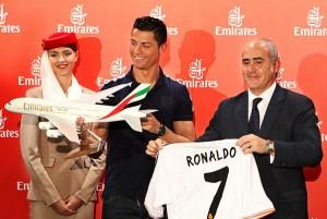 Emirates Global Ambassador Cristiano Ronaldo and Emirates Country Manager Fernando Suarez de Gongora.