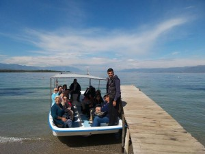 Foreign tourism professionals during a fam trip to Aidipsos, Evia. Photo: Respond on Demand