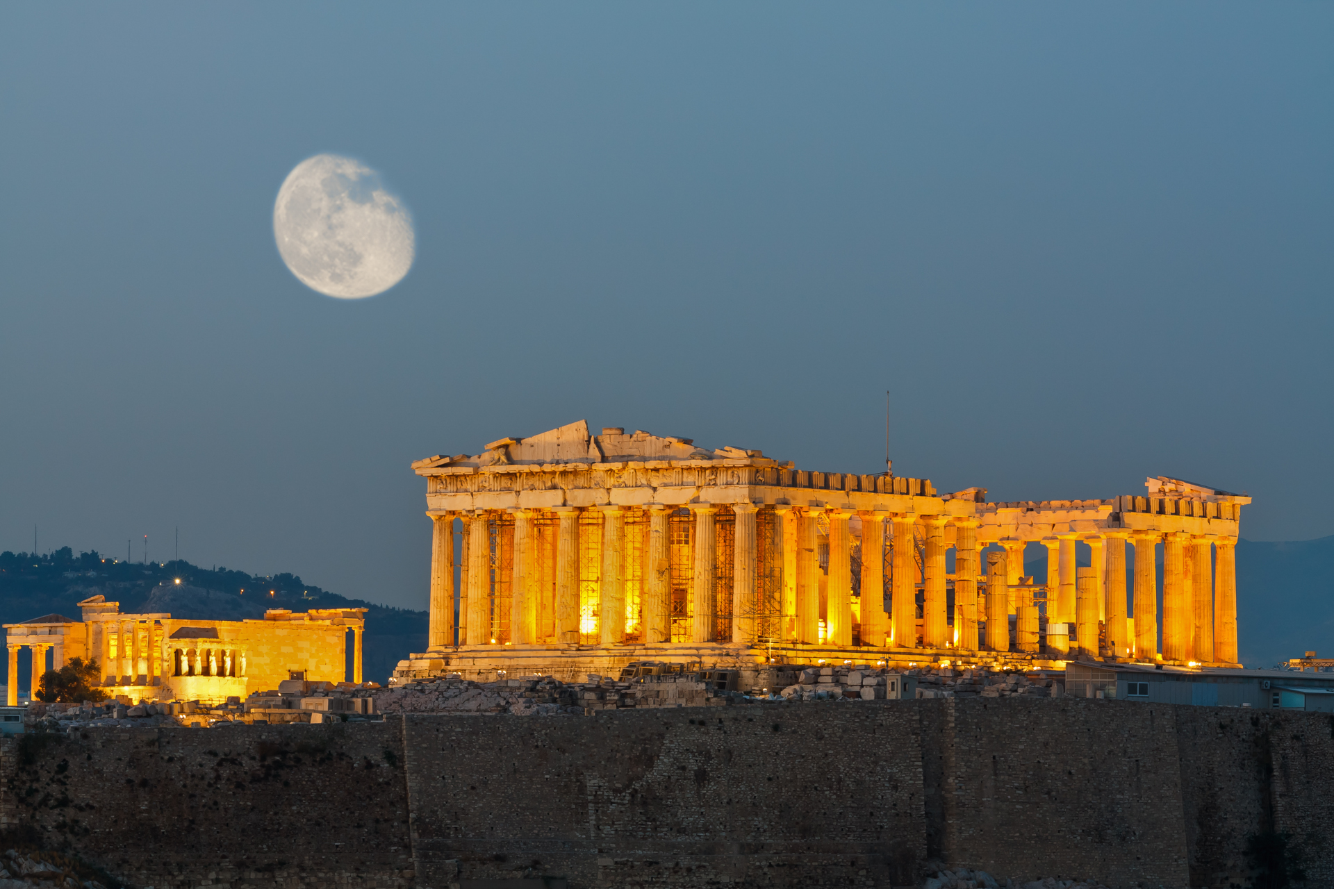 The Acropolis of Athens and the Parhenon
