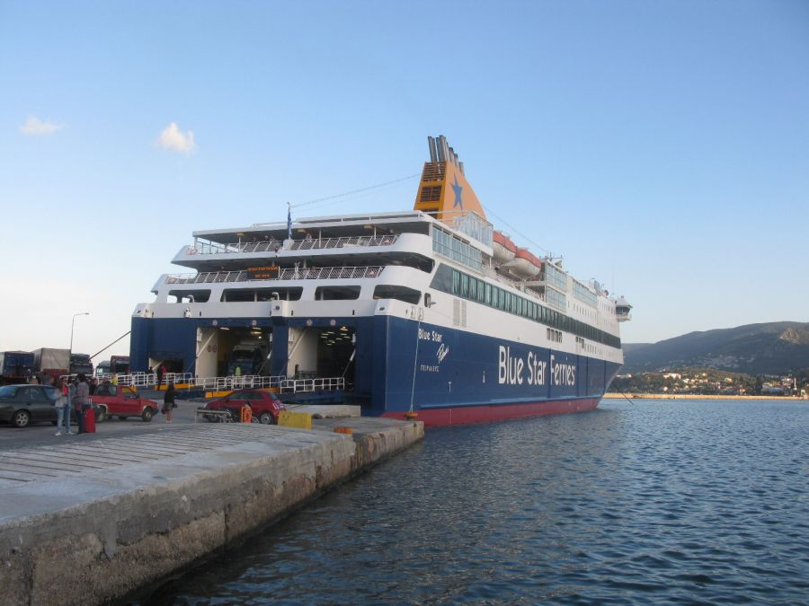 The Blue Star Patmos ship of Blue Star Ferries (Attica Group). Photo © GTP