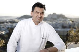 Executive chef Kostas Athanasiou. Photo © Hilton Athens