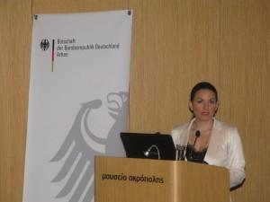 Greek tourism Minister Olga Kefalogianni. Photo © GTP