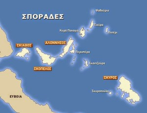 Map of the Sporades island group. © Hellenic Seaplanes