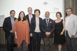TCB President Despina Amarantidou (center) with entrepreneurs of Thessaloniki/members of the bureau. Photo © TCB