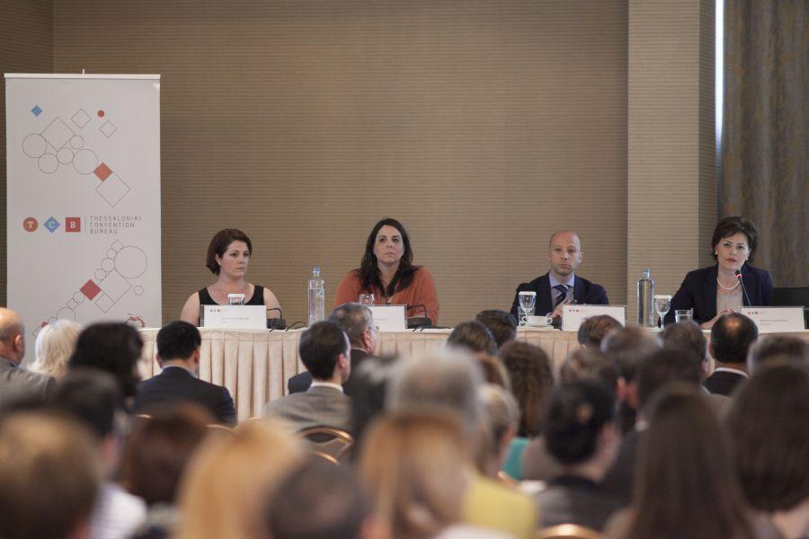 Presentation of the Thessaloniki Convention Bureau (TCB) to the city's entrepreneurs and tourism professionals. Photo © TCB