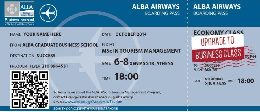 ALBA_MSc in tourism