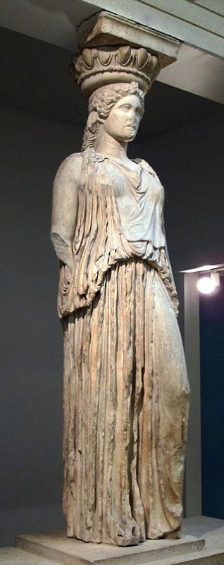 A Caryatid in the British Museum.