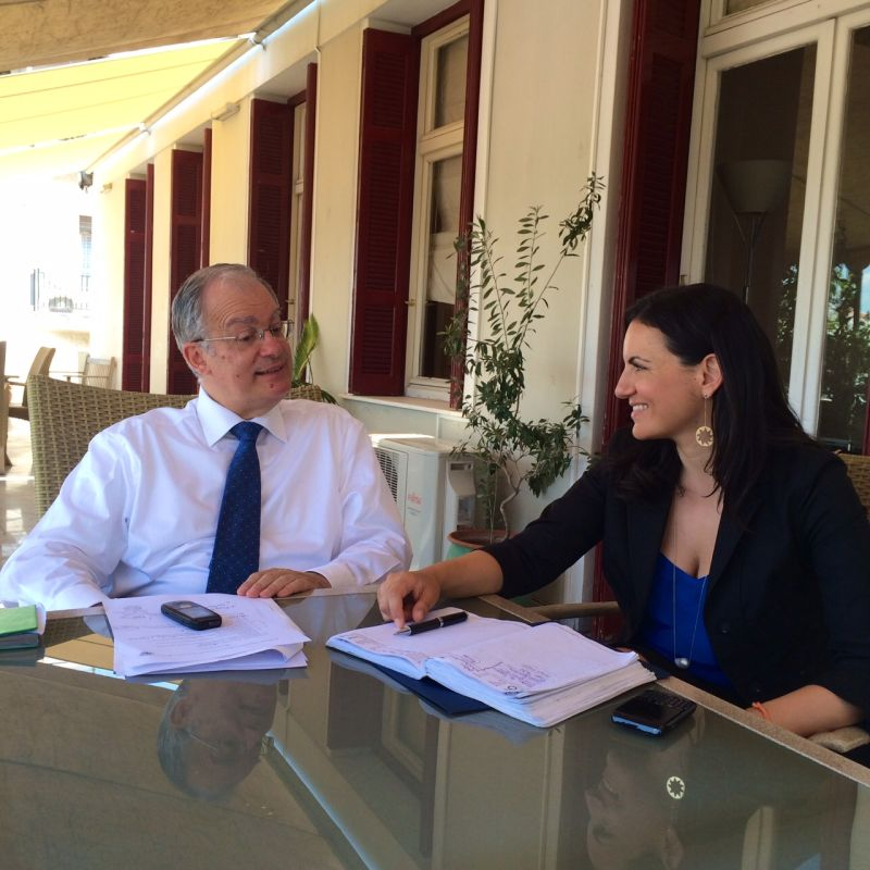 Meeting of Greek ministers of Culture, Konstantinos Tasoulas and Tourism, Olga Kefalogianni, in Athens. Photo source: Greek Tourism Ministry