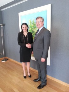 Greek Tourism Minister Olga Kefalogianni with H.E. Ambassador Dr. Victor Tvircun, Secretary General of the BSEC Permanent International Secretariat, in Athens, in early June. Photo © BSEC