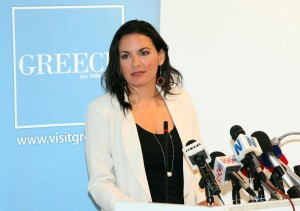 Greek Tourism Minister Olga Kefalogianni. Photo © Greek Tourism Ministry