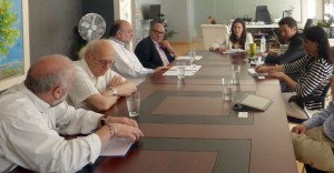 Greek Tourism Minister Olga Kefalogianni discussing promoting Greece through international films. Photo © Greek Tourism Ministry