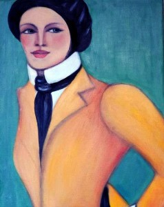 Coco, oil on canvas. Photo source: Sofitel Athens Airport