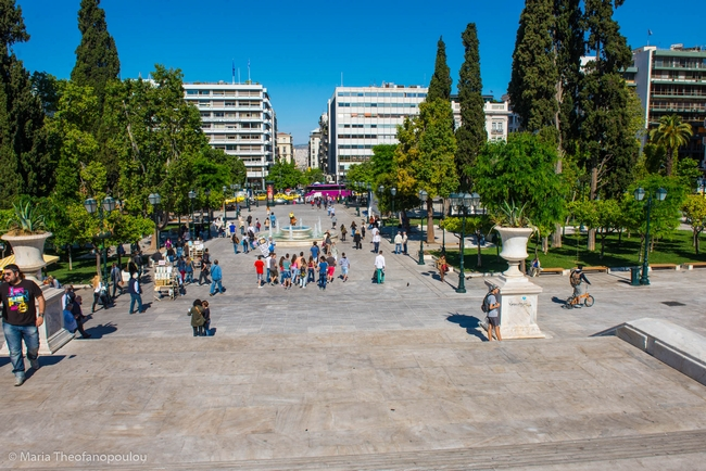 Syntagma Square, Athens center. Photo © Maria Theofanopoulou