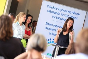 Presentation of transavia.com at Athens International Airport by Hester Bruijninckx, vice president sales. Photo source: AIA