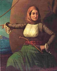 Oil Painting of Bouboulina, The National Historical Museum, Athens.