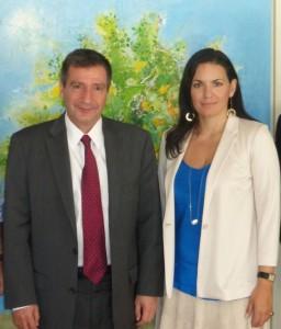 Athens Mayor Giorgos Kaminis and Greek Tourism Minister Olga Kefalogianni. Photo source: Greek Tourism Ministry