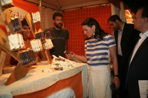 Greek Tourism Minister Olga Kefalogianni touring the 3rd Cretan Diet Festival. Photo © Municipality of Rethymno