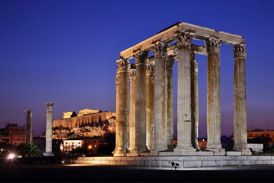 Olympian Zeus Temple, Athens. Photo © Heracles Kritikos / Shutterstock